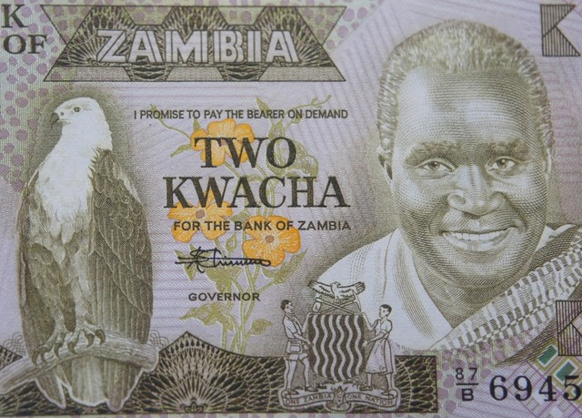 Zambia 2 Kwacha 1987 UNC