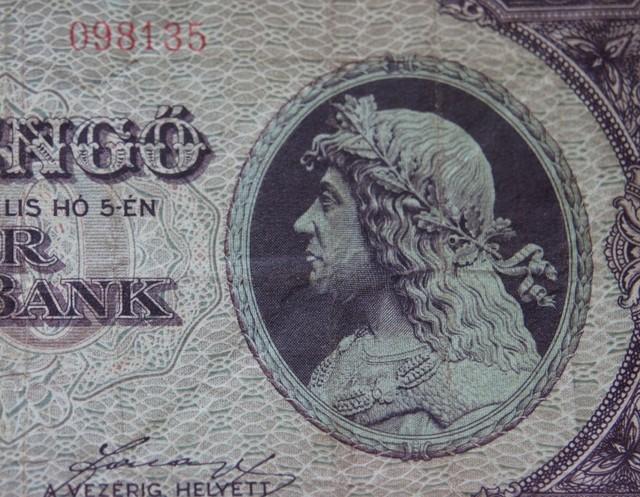 Hungary Száz (100) Pengő 1945 king Matthias (Mátyás)