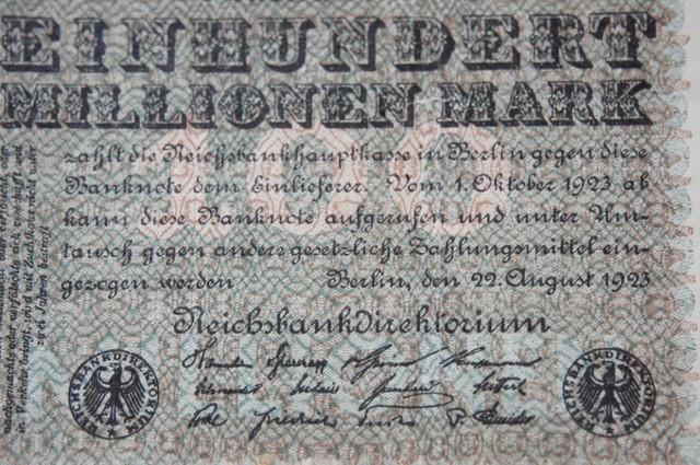 Germany 100 Millionen Mark 1923 Berlin