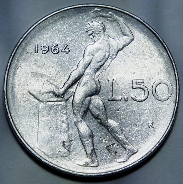 Italy 50 Lire 1964 (large type) KM#95.1