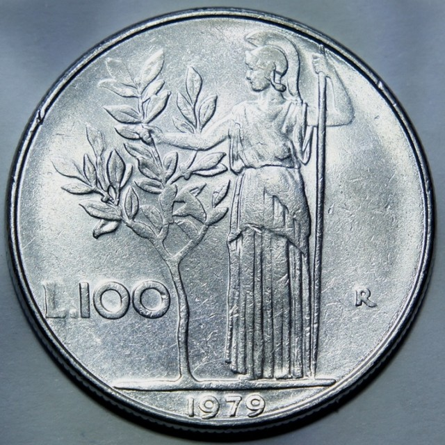 Italy 100 Lire (large type) 1979 KM#96.1