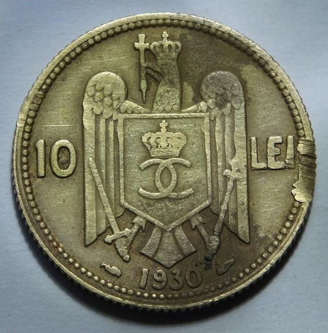 Romania 10 Lei-Carol II. 1930 KM#49