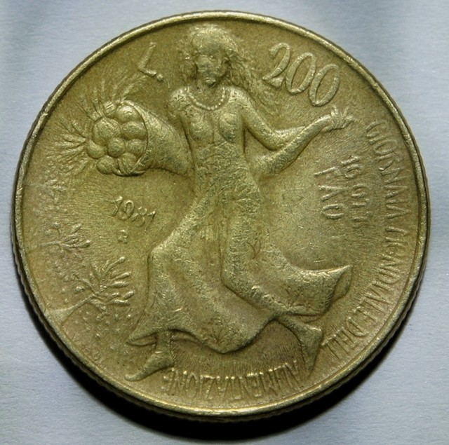 Italy 200 Lire (FAO) 1981 KM#109