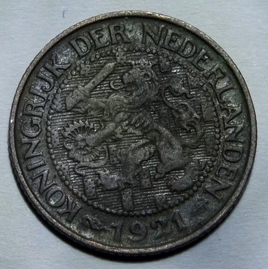 Netherlands 1 Cent-Wilhelmina 1921 KM#152