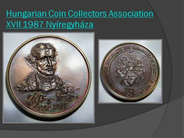 Hungarian Coin Collectors Association XVII 1987 Nyíregyháza