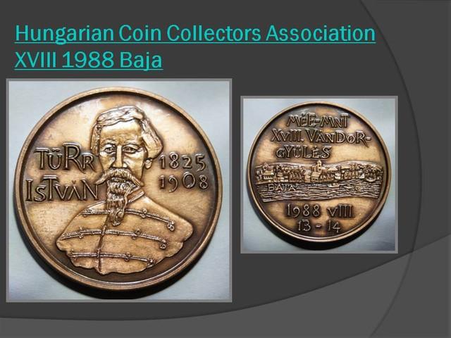 Hungarian Coin Collectors Association XVIII 1988 Baja