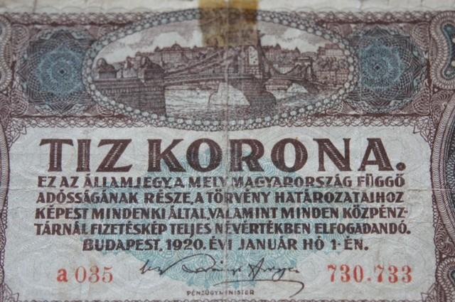 Hungary Tíz (10) Korona 1920