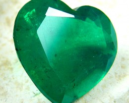 HEART SHAPE BYRON DOUBLET EMERALD  7.95   CARATS  AAT5