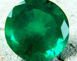 ROUND BYRON DOUBLET EMERALD  7.75 CARATS  AAT9
