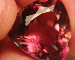 Hot Red/ Pink/ Orange Trillion  - VVS - Crown Sapphire