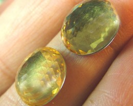 GOLDEN  QUARTZ  FACETED DOUBLET 8 CTS 2 PCS  AS-A101
