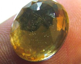 GOLDEN FACETED QUARTZ -DOUBLET 4.20 CTS FP-635 (PG-GR)
