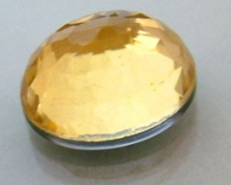 GOLDEN FACETED QUARTZ- DOUBLET 3.70 CTS FP-636 (PG-GR)