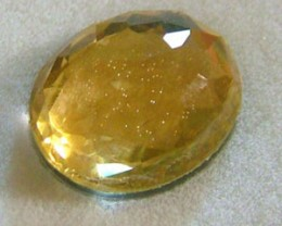 GOLDEN FACETED QUARTZ- DOUBLET 3.85 CTS FP-637 (PG-GR)