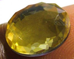 GOLDEN FACETED QUARTZ- DOUBLET 3.80 CTS FP-638 (PG-GR)