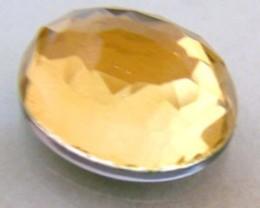 GOLDEN FACETED QUARTZ- DOUBLET 4.05 CTS FP-639 (PG-GR)