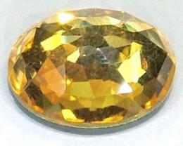 GOLDEN FACETED QUARTZ- DOUBLET 3.45 CTS FP-805 (PG-GR)