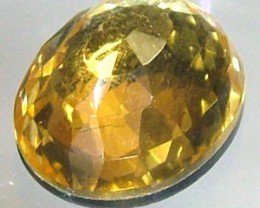 GOLDEN FACETED QUARTZ- DOUBLET 4.05 CTS FP-809 (PG-GR)