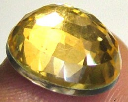 GOLDEN FACETED QUARTZ -DOUBLET 3.65 CTS FP-814 (PG-GR)