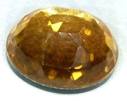 GOLDEN FACETED QUARTZ -DOUBLET 4.05 CTS FP-856 (PG-GR)