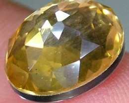 GOLDEN FACETED QUARTZ -DOUBLET 4.05 CTS FP-941 (PG-GR)