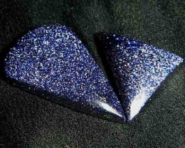 Sparkingly Blue Galaxy Sun Sitara Stone A636