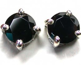 BLACK DIAOMOND  STERLING SILVER EAR  WITH STONE   G1670