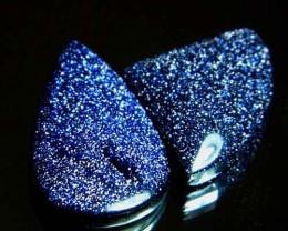 Sparkingly Blue Galaxy Sun Sitara Stone A641