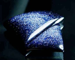 Sparkingly Blue Galaxy Sun Sitara Stone A647