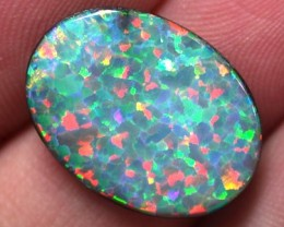 MAN MADE GEM DOUBLET ON BLACK POTCH K110