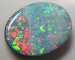 MAN MADE GEM DOUBLET ON BLACK POTCH K118
