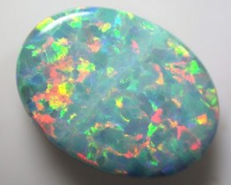 MAN MADE GEM DOUBLET ON BLACK POTCH K128