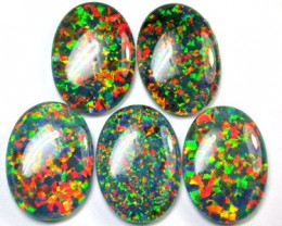 PARCEL SYNTHETIC TRIPLET OPALS 18 X 13 MM 31.60 CTS RN 1272