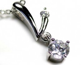 FASHION DIAMOND  SILVER PENDANT 6.5 CARATS RO3000