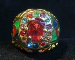COLOURFUL ATTRACTIVE  MULTI  RING SIZE 18  11596