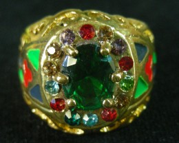 COLOURFUL ATTRACTIVE  MULTI  RING SIZE 19  11599