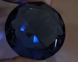 261CTS  FANCY DISPLAY GEMSTONE   PEACOCK BLUE SAPPHIRE 11133