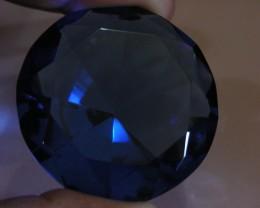 261CTS  FANCY DISPLAY GEMSTONE   PEACOCK BLUE SAPPHIRE 11133