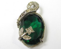 FANCY GREEN BERYL PENDANT 11759