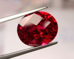 VERY NICE VERNEUIL RUBY CHECKBOARD CUT 12x10mm, 6 CARATS