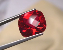 VERY NICE VERNEUIL RUBY PIGEON BLOOD RED 12x10mm CHECKBOARD