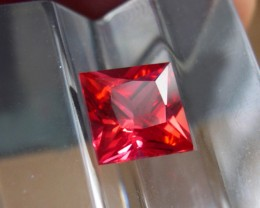 VERY NICE VERNEUIL PADPARADSCHA SAPPHIRE 8MM PRINCESS CUT