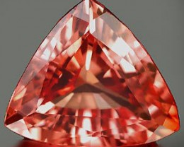 VERY NICE PADPARADSCHA VERNEUIL SAPPHIRE 15x15x15MM TRILLION