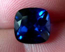 VERY NICE ROYAL BLUE VERNEUIL SAPPHIRE CUSHION 9x9MM