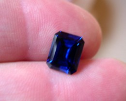 VERY NICE ROYAL BLUE VERNEUIL SAPPHIRE EMERALD CUT 8x10MM
