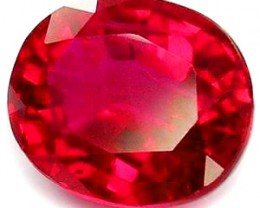 TOP QUALITY BLOOD RED VERNEUIL RUBY 8x10 MM...3,50 CTS