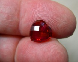 QUALITY PIGEON BLOOD RED VERNEUIL RUBY HEART 10mm DRILLED