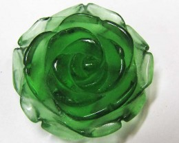 FLOWER CARVING EMERALD GREEN 95    CTS PG 123