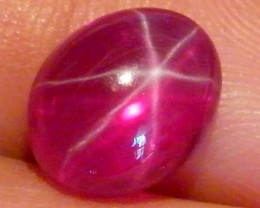 CAB TREATED STAR RUBY $5.00 PER CARAT  3.40 CT RM 599