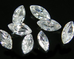 PARCEL SPARKLING ZIRCONIA MARQUISE CUT 1.95 CARATS  0343-2